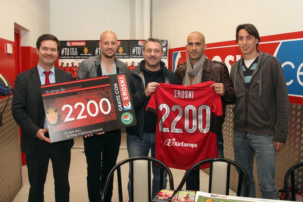 Sinergia 2013 .Eroski + Real Mallorca = 2.400 socios