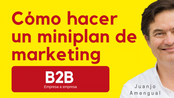 "Cómo hacer un plan de marketing  B2B  , "" mini"""